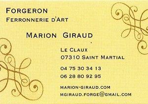 Carte Marion Giraud