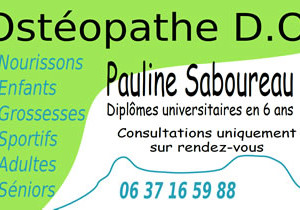 Consultations en ostéopathie